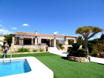Photo for Beautiful 6 person villa Albir / Alfaz close to the beach, nice view and pool.