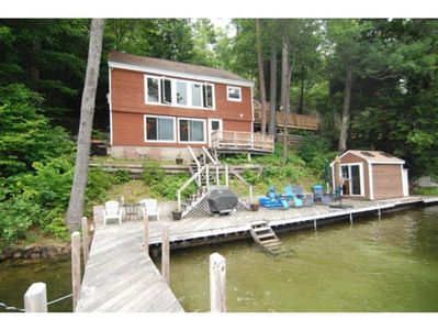 Photo for Relaxing Waterfront home with great views of Alton Bay