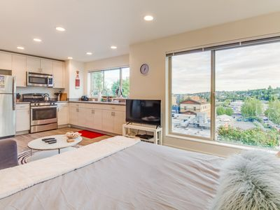 Photo for Two well-furnished dog-friendly studios boast incredible city views!