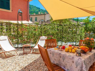 Photo for Ziguela, apartment for 4, with garden, 200m from beach, in Levanto centre 11017LT608