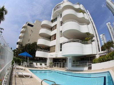 Photo for Condo with magnificent views and steps to pool and best beaches in Cartagena