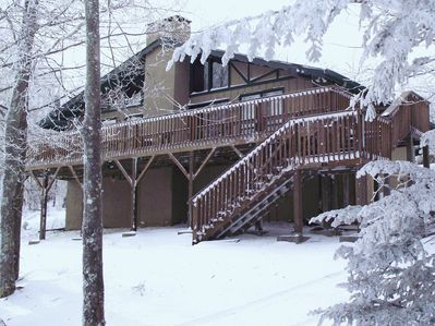 Close to the slopes.  Book for coming winter ski season