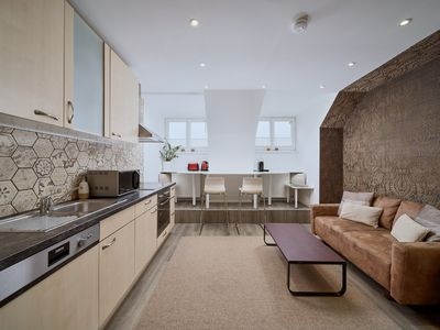Photo for Apartment, central, 2 bedrooms, living area with kitchen and sofa bed