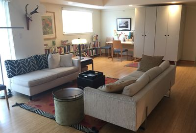 living room with friends
