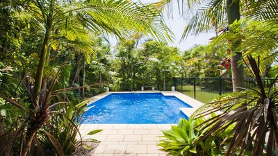 Photo for Beachfront Pool House - Direct access to beach