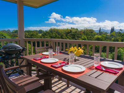 Photo for Hanalei Bay Villas 26-Breathtaking ocean, mountain and jungle views,upgraded interiors,new kitchen, 2br/2ba