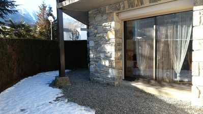Photo for Small apartment in Saint Lary Soulan (high Pyrenees) facing the ridges of Azet