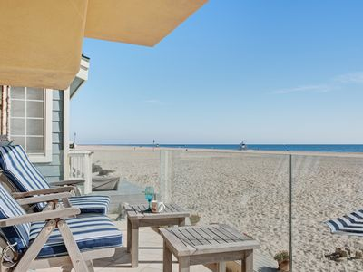 Photo for Oceanfront home w/ a gas fireplace, furnished deck, & beach access!