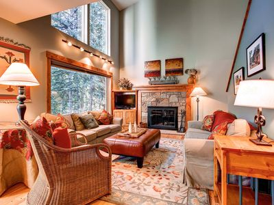 Photo for 7th Night Free! Secluded Townhome Near Peak 9, Private Hot Tub, Wi-Fi, Gas Grill