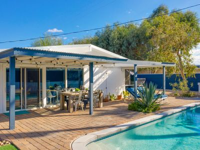 Photo for New Listing! Stylish Mid-Century w/above groun Hot Tub, Pool & Mountain Views
