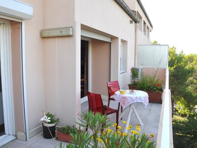 Photo for Beautiful apartment Aix, Quiet, Elevator, Wifi, Air conditioned, Garage included, secur res