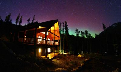 Chalet with Northern Lights