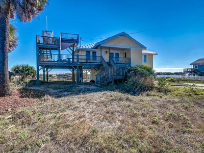 Photo for Cozy 3 bed/3-1/2 bath cottage sleeps 6- pet friendly.  Oceanviews from balcony and LR.