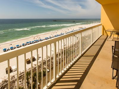 Photo for Gorgeous, gulf-front condo w/ stunning views, shared pool & fitness center!
