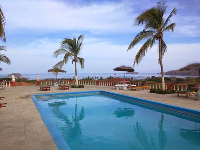 Photo for Relaxing 2Bdr Condo, sunshine filled view from living room, Oceanview From Pool