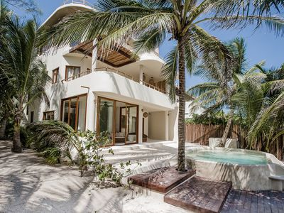 Photo for 5BR Beachfront Zorba Villa - Spacious beachside Villa directly on Tulum Beach!