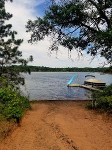Photo for Amazing Cabin with Sandy Beach water front on Mallard Lake!
