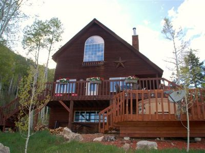 Photo for Lovely Cabin Located Between Downtown and Ski Resort - Hot Tub, Pet Friendly