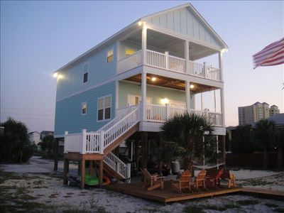 This is the house  pictured from Pensacola Beach Sound..