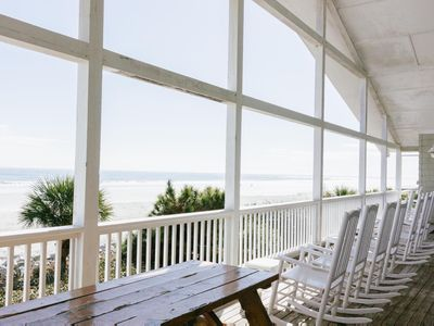Photo for Largest Oceanfront Deck on Fripp Island! Resort Amenity Access Available