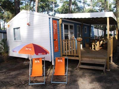 Photo for Camping Domaine de la Marina **** - Mobile Home Resasol 4 rooms 6/8 people Pets Allowed