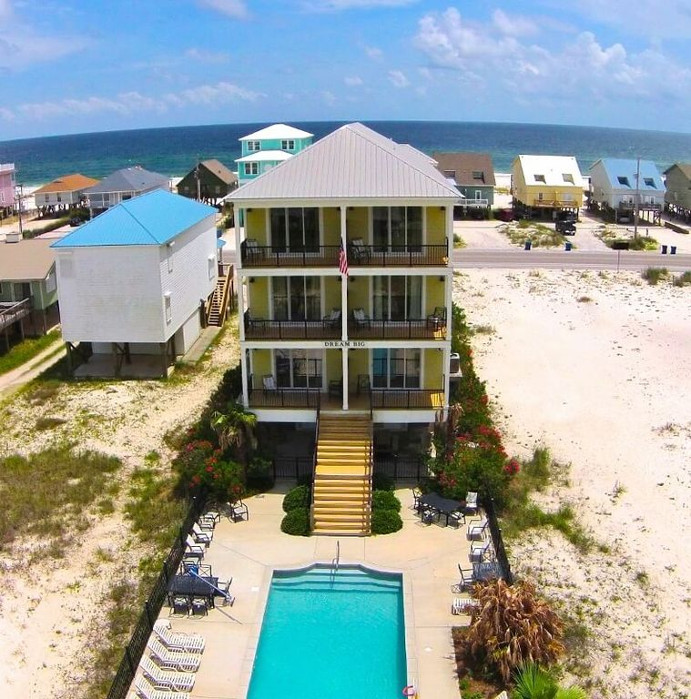 Gulf Shores Beach House Rentals With Pool: Stay At 'Dream Big'! Big Heated Private Poo...