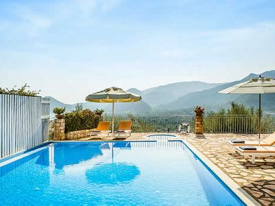 Photo for 2 bedroom villa w/stunning sea views, free Wi-Fi, air conditioning, pool towels and hairdryers, a 10 minute drive to Nidri shops and restaurants and a short walk from the beach.