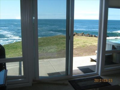 Photo for Whales! Direct Oceanfront -5* Rated -  Private Hot Tub - 3 Bedrooms  - Pool