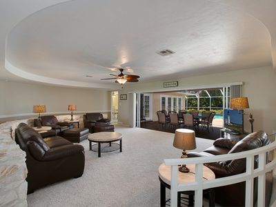Photo for Closest, Largest Home to Beach Access on Marco! Walk to Everything!