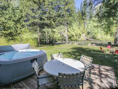 Photo for Chiwawa River Chalet, RIVER,  Hot Tub, WiFi, Sat. TV and Fido Friendly!