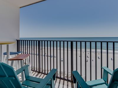 Photo for NEW LISTING! Waterfront condo w/ a full kitchen, shared pool, & beach access!