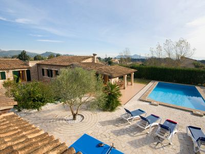 Photo for Beautiful  and new countryside villa between Pollença and Puerto Pollença.