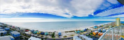 Photo for Beachfront 3bd/3ba condo w/ beach/ bay views- private beach access, pool, hot tu