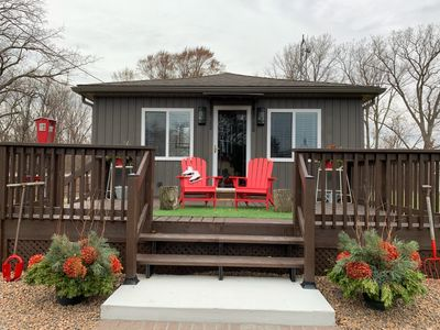 Photo for NEW Luxury, Willow Beach Cottage steps to the lake