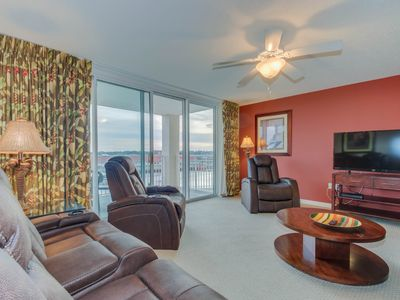 Photo for Spacious condo overlooking the waterway & marina at Yacht Club Villas