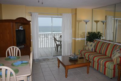 Enjoy the Gulf from the Living Room or  Balcony