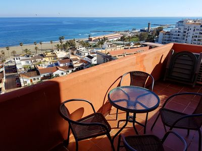 Photo for Spectacular bird´s-eye view from the top apartment to the Mediterranean Sea