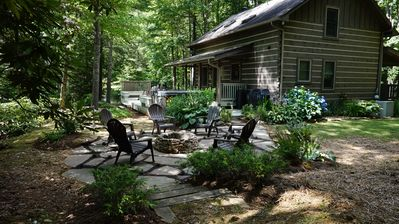 Photo for 1 Sweet Seclusion -Peaceful cabin just outside of Boone with hot tub!