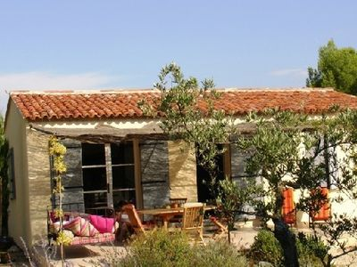 Photo for Character cottage in Provence with swimming pool, in the countryside, view of Mont Ventoux