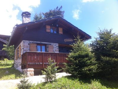 Photo for Chamrousse chalet 3 * independent typical wood and stone fireplace + / summer-winter
