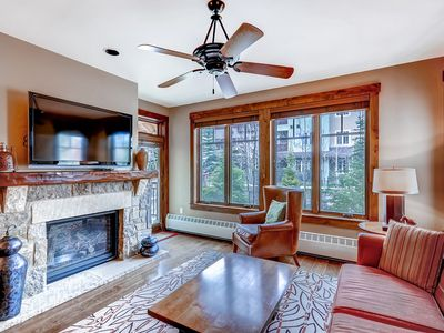 Photo for Gorgeous condo in town w/ outdoor pool & hot tubs - skiing all around!