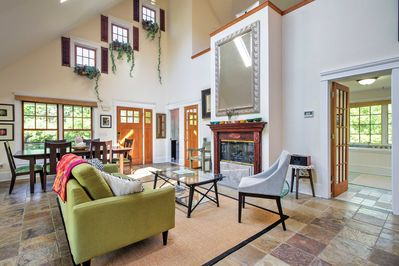 An open concept floor plan seamlessly connects the main level areas.
