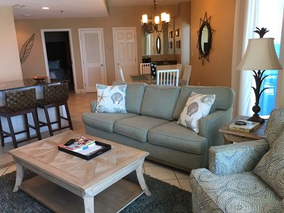 Living Room with Queen Sleeper Sofa   Opens to Gulf front Balcony