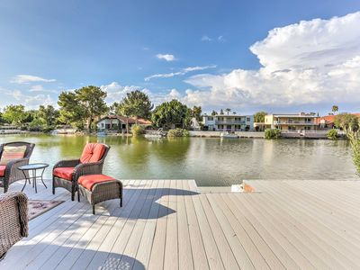Photo for Lakefront Tempe House w/Sun Deck, Hot Tub & Boats!