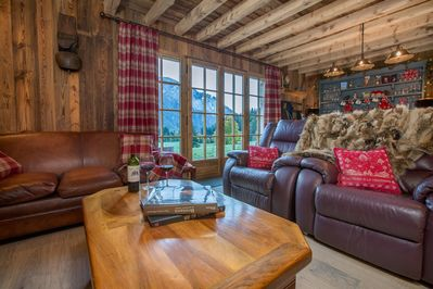 Amazing View from the Living Room  - Samoens Chalet Luxury Chalet Heidi