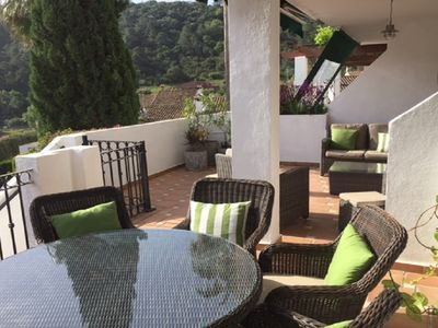 Photo for Luxury 2 bedroom, 2 bathroom apartment  in Benahavis Village- pool and  views