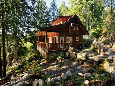 Photo for Waterfront West Coast Cabin Offering Relaxed Romantic Seclusion!  Soaker Tub!