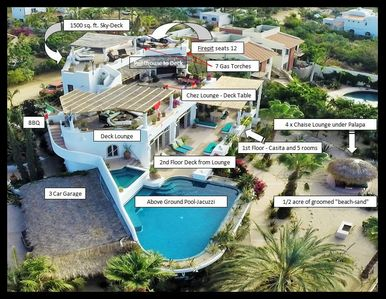 14,000 sq. ft. villa [with decks on 4 levels] - Ocean Views from 3 levels !!