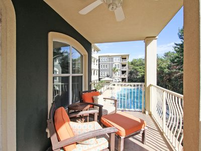 Photo for Seagrove Condo Beauty!  Gated beach access, large pool, 3 BR, Bikes