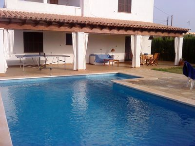 Photo for Villa with pool and garden close to the best virgin beaches of Mallorca